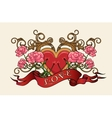 Heart with Roses vector image vector image