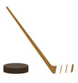 ice hockey puck and stick vector image