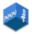 isometric row of outdoor urinals men public toilet vector image