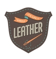 Leather label for creative design project vector image