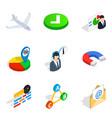 legitimate business icons set isometric style vector image vector image