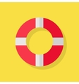 Lifebuoy Icon on Yellow vector image vector image