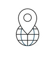 line global earth planet with location symbol vector image vector image