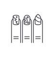 manicure line icon concept manicure linear vector image vector image