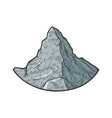 matterhorn mountain sketch vector image