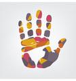 Mosaic handprint vector image vector image
