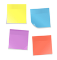 Multicolored stickers for note isolated on white vector image vector image