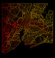 new york city color map vector image vector image