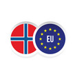 norway european union badge flag vector image