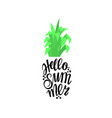 pineapple in the form of lettering with the word vector image