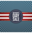 Presidents Day Sale blue Banner with Ribbon vector image vector image