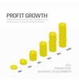 profit increase money vector image vector image