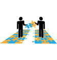 Puzzle Solution Collaboration vector image vector image
