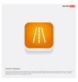 railroad track icon orange abstract web button vector image