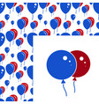red and blue party balloon pattern on white vector image vector image