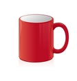 Red coffee cup isolated on white vector image