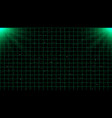 retrowave green laser grid on starry space vector image
