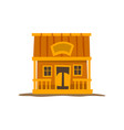 rustic wooden log cabin traditional eco house vector image vector image