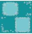 set floral frame vector image vector image