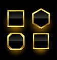 set golden empty badge labels vector image vector image
