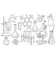 set of equipment for chemical and medical vector image vector image