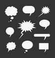 set symbols comic bubble vector image vector image