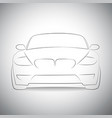 silhouette of sport car front view vector image
