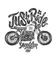 sketch motorcycle brooklyn t shirt prints vector image vector image
