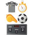 soccer and football concept with flat icons vector image