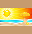 summer holiday in seashore vector image
