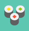 sushi roll food and gastronomy set flat icon vector image