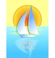The boat on the sea best travel vector image vector image