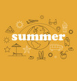 thin line style summer with vector image vector image