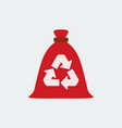 trash bag garbage recycling and utilization icon vector image