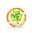 Trefoil icon isolated for Saint Patrick day vector image vector image