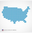 usa map and flag icon vector image