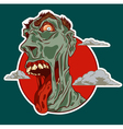 Zombie smile vector image vector image