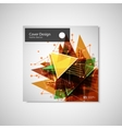 Abstract Triangle line Poster Brochure Flyer vector image
