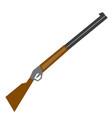 rifle sport shooting cartoon vector image