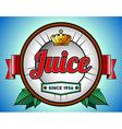 Juice or soda label vector image