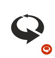 arrows circle 3d icon vector image