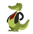 Crocodile business man portrait vector image