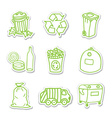 Garbage icon stickers vector image