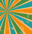 Abstract Sunburst Background in Retro Color vector image vector image