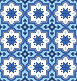 Arabic pattern Moroccan blue tiles design vector image