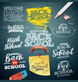 back to school with typography vector image vector image