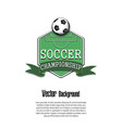 background soccer championship vector image