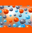 background with abstract molecules or atoms vector image vector image