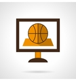 Basketball online flat color icon vector image
