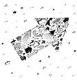 Big arrow shape made with small arrows vector image vector image